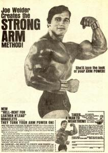 Arnold Schwarzenegger early ad for Joe Weider