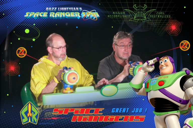 Dave and Bob on Space Ranger Spin