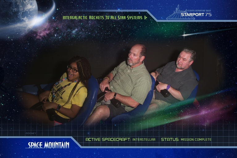Dave and Bob on Space Mountain