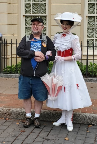 Bob with Mary Poppins standing together in a practically perfect way!