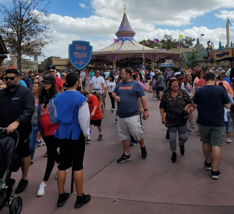 Crowds in Fantasyland
