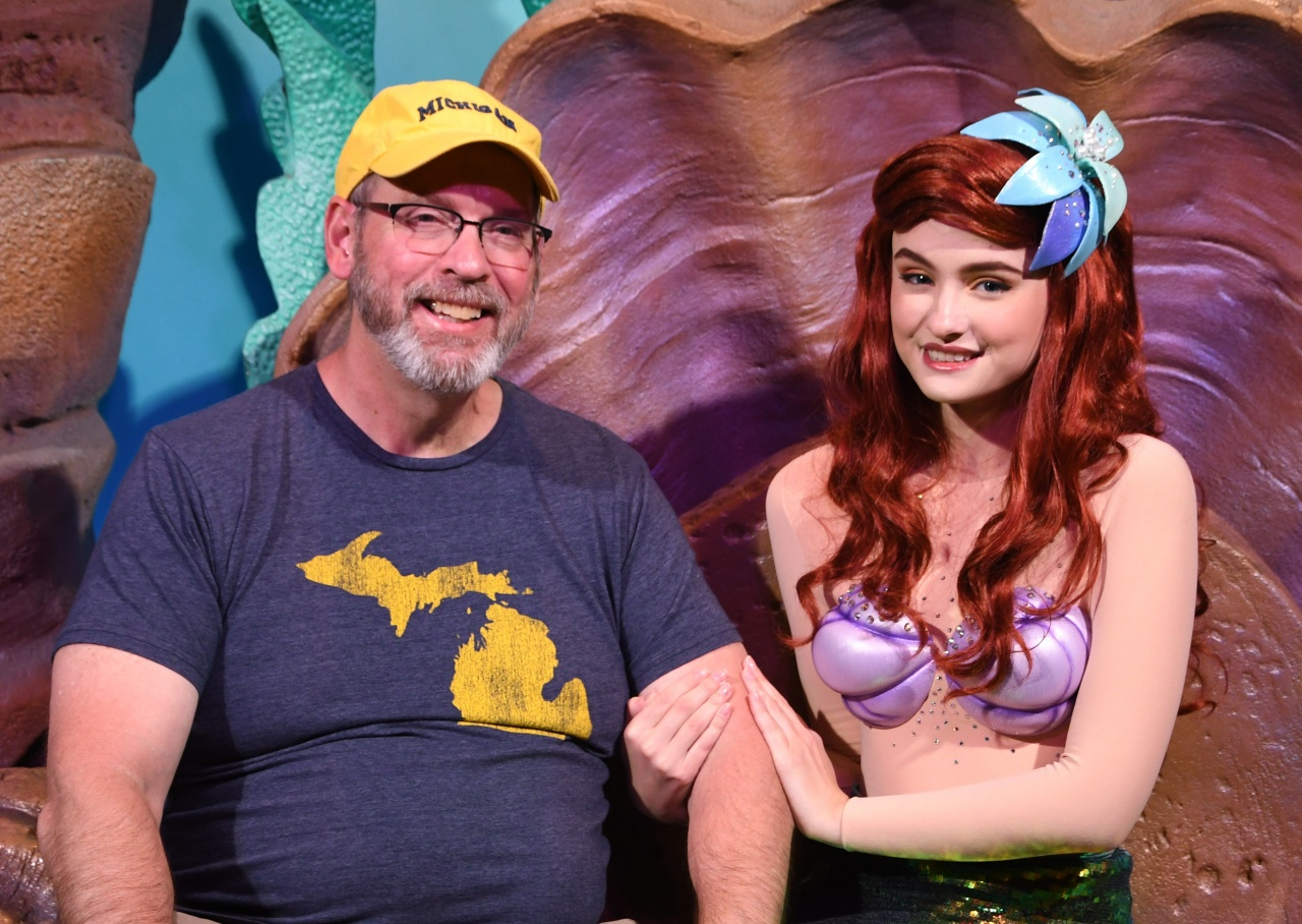 Chatting with Ariel.