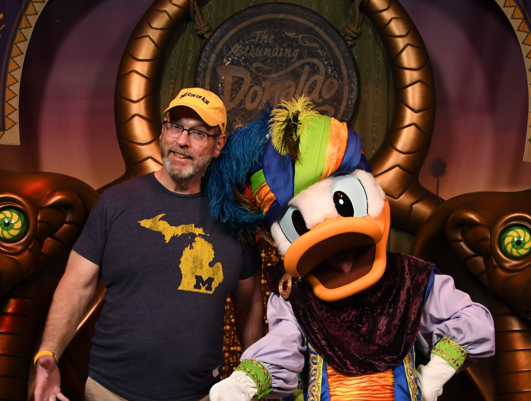 Dave with Donald Duck.