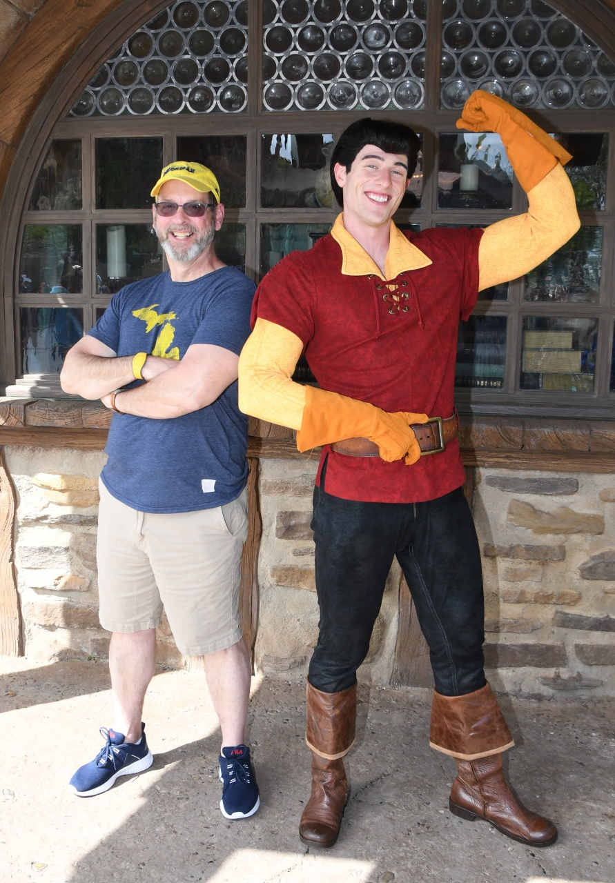 Dave posing with Gaston