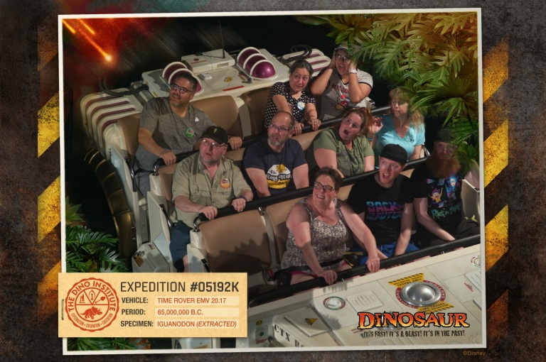 Bob and I with the other guests on Dinosaur!