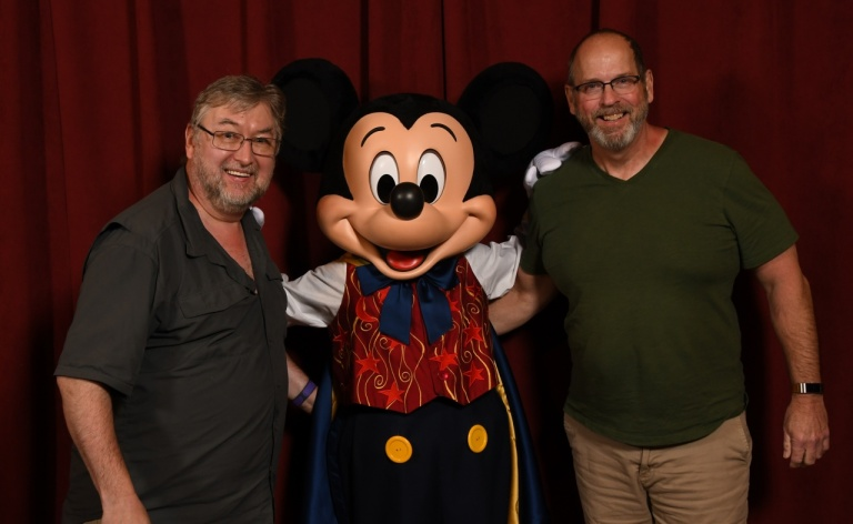Bob, Mickey Mouse, and Dave in February 2020.