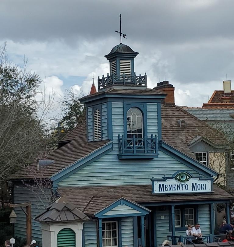 Memento Mori. The Haunted Mansion's gift shop.