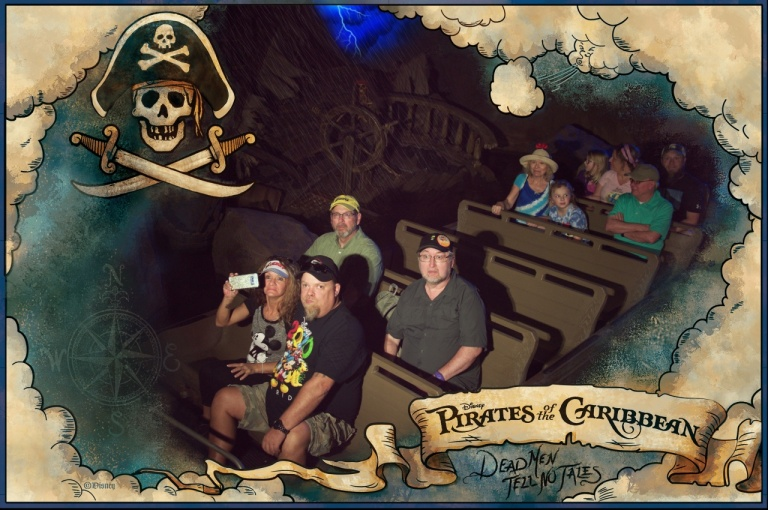 Dave and Bob on the Pirates of the Caribbean.